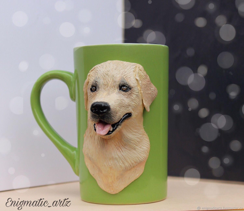 Кружка с лабрадором (с собакой), Кружки, Королев,  Фото №1