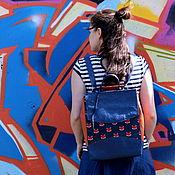 Сумки и аксессуары ручной работы. Ярмарка Мастеров - ручная работа Кожаный рюкзак-сумка с лисами. Handmade.