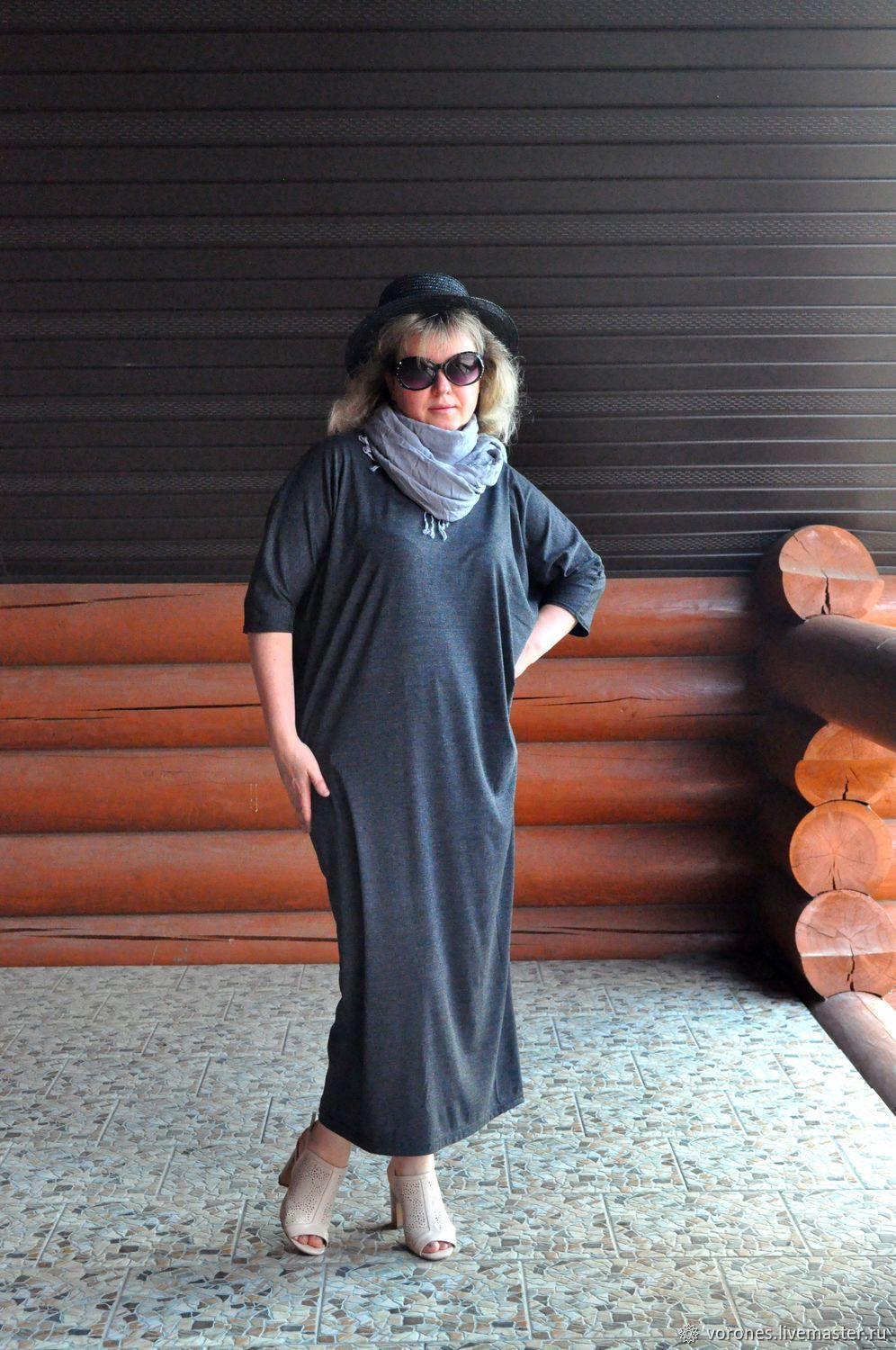 Dress knit. Loose fit. Color graphite, Dresses, Moscow,  Фото №1