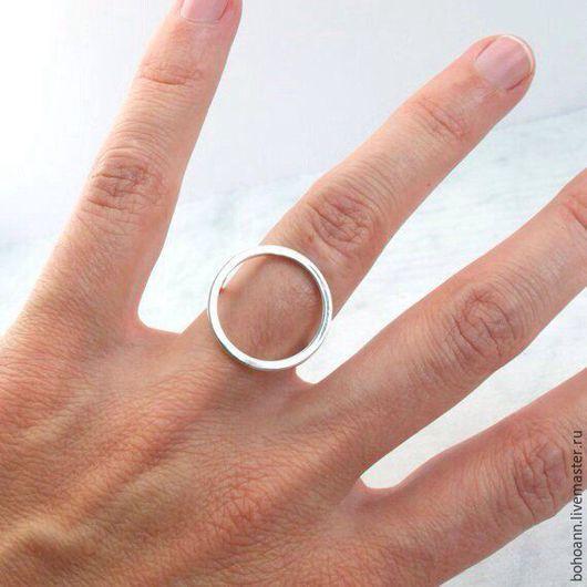 Кольца ручной работы. Ярмарка Мастеров - ручная работа. Купить Кольцо круг. Handmade. Серебряный, кольцо из серебра, круглое кольцо