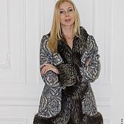 Куртки ручной работы. Ярмарка Мастеров - ручная работа Куртка зимняя/жилет с чернобуркой. Handmade.