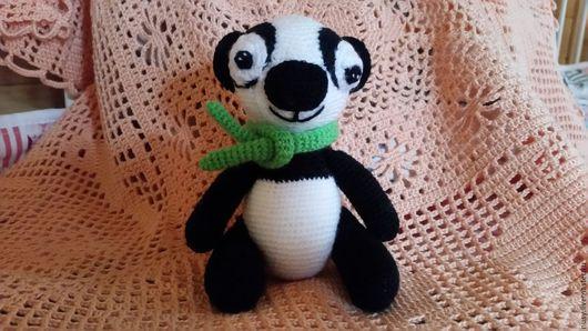 Игрушки животные, ручной работы. Ярмарка Мастеров - ручная работа. Купить Панда -карманная игрушка. Handmade. Панда, игрушка в подарок