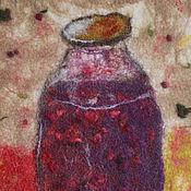 Картины и панно ручной работы. Ярмарка Мастеров - ручная работа Варенье, войлок. Handmade.