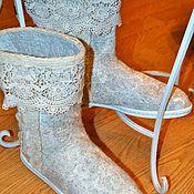 Обувь ручной работы. Ярмарка Мастеров - ручная работа Кружевные ботиночки. Handmade.