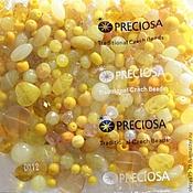 Beads1 handmade. Livemaster - original item 20 gr MIX yellow Czech beads Preciosa. Handmade.