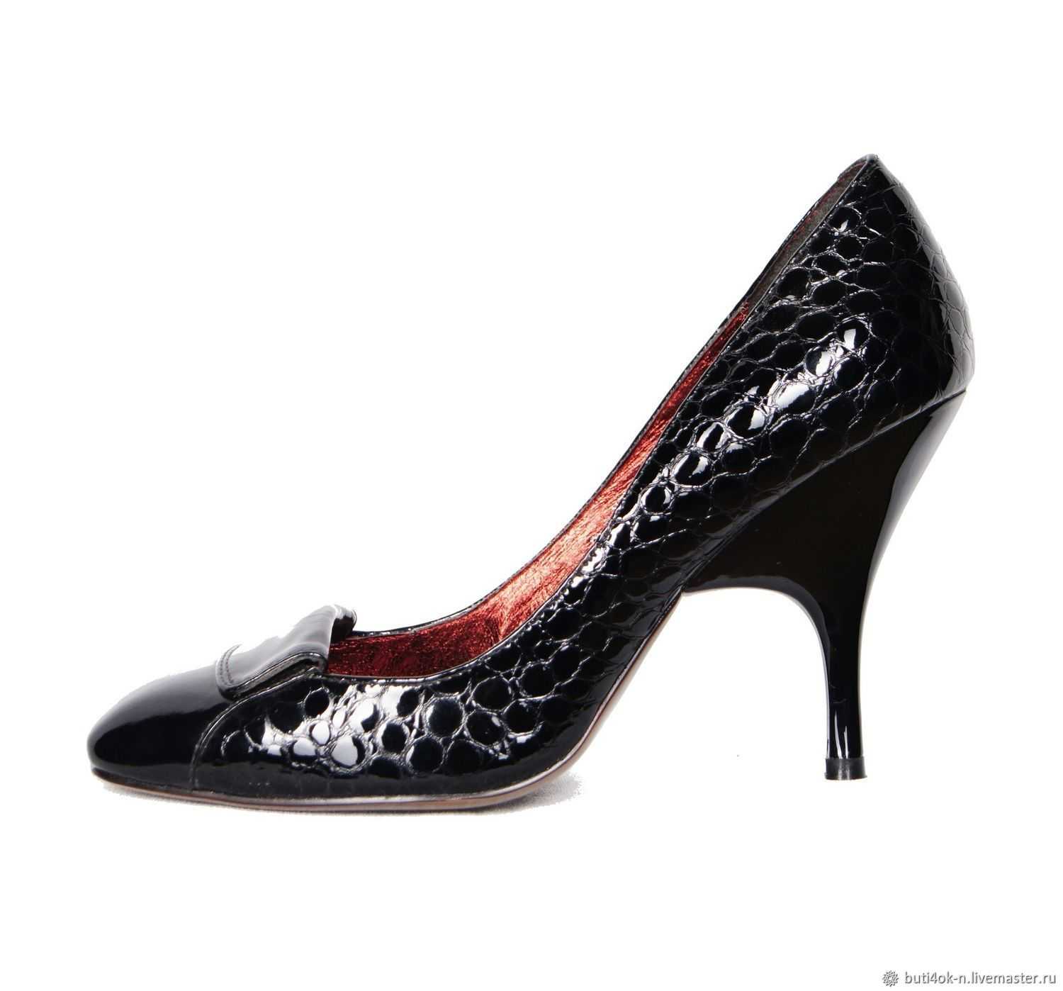 39 size! Shoes from NAT.patent leather under the reptile, Shoes, Nelidovo,  Фото №1