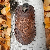 Сумки и аксессуары handmade. Livemaster - original item Leather wallet with embossed Dragon. Handmade.