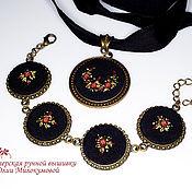 Украшения handmade. Livemaster - original item Embroidered complete Carmen. Handmade.