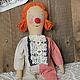 Ароматизированные куклы ручной работы. Ярмарка Мастеров - ручная работа. Купить Кукла Клоунесса.. Handmade. Ароматизированная кукла, примитивная кукла