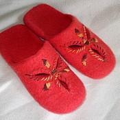 """Обувь ручной работы. Ярмарка Мастеров - ручная работа Тапочки """"С цветочком аленькие"""". Handmade."""