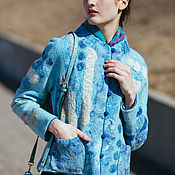 """Одежда ручной работы. Ярмарка Мастеров - ручная работа Жакет """"Голубая Морфида"""". Handmade."""