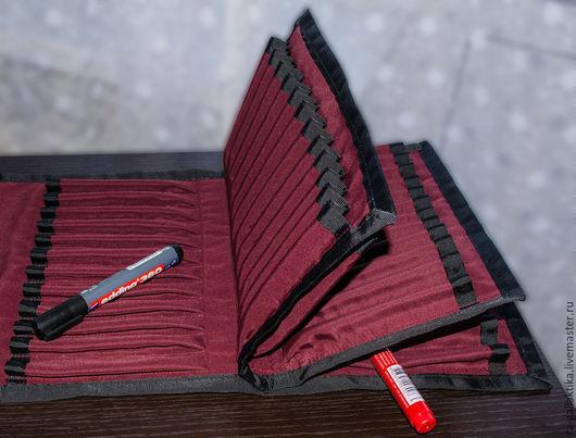 Пеналы ручной работы. Ярмарка Мастеров - ручная работа. Купить Пенал для карандашей, маркеров, кистей. Handmade. Пенал тканевый