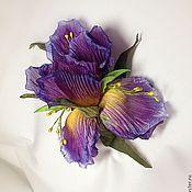 """Украшения ручной работы. Ярмарка Мастеров - ручная работа Цветы из ткани. Шелковый цветок """"Ирис"""". Handmade."""