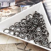 Материалы для творчества handmade. Livemaster - original item 20 PCs. The connecting jump rings, 7 mm, black (art. 3112). Handmade.