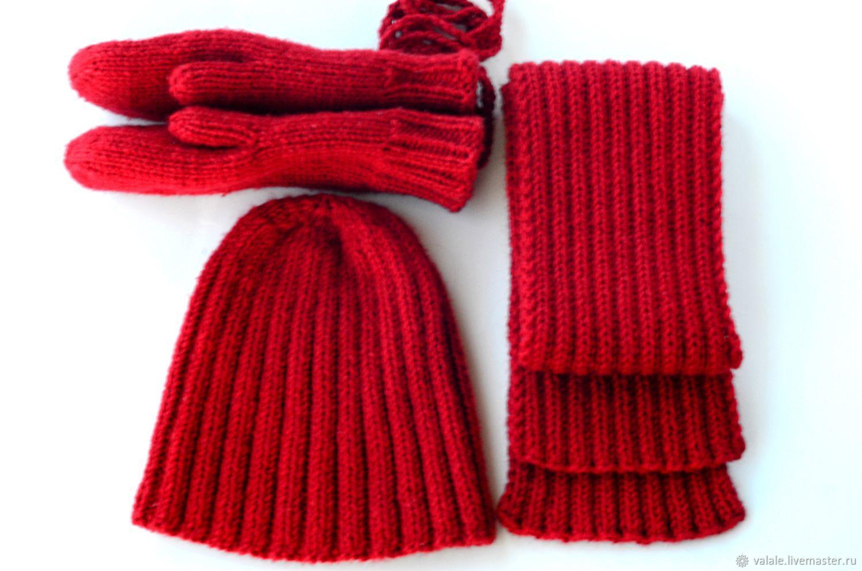 шапка шарфы варежки купить