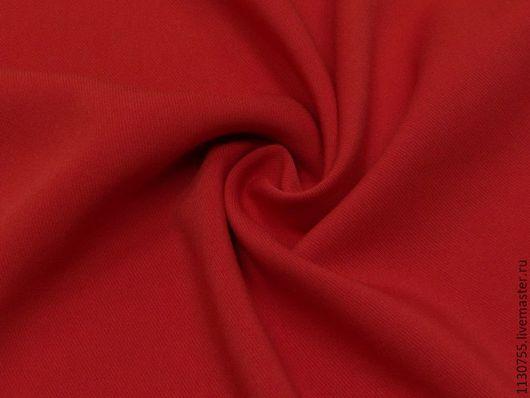 Шитье ручной работы. Ярмарка Мастеров - ручная работа. Купить ткань костюмная вискоза твил стрейч красная. Handmade. Черный