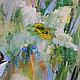 """Картины цветов ручной работы. """"Андорра. Нарциссы в Пиренеях"""" - картина маслом на холсте. ЯРКИЕ КАРТИНЫ Наталии Ширяевой. Ярмарка Мастеров."""
