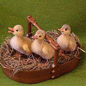 Куклы и игрушки handmade. Livemaster - original item felted ducklings. Handmade.