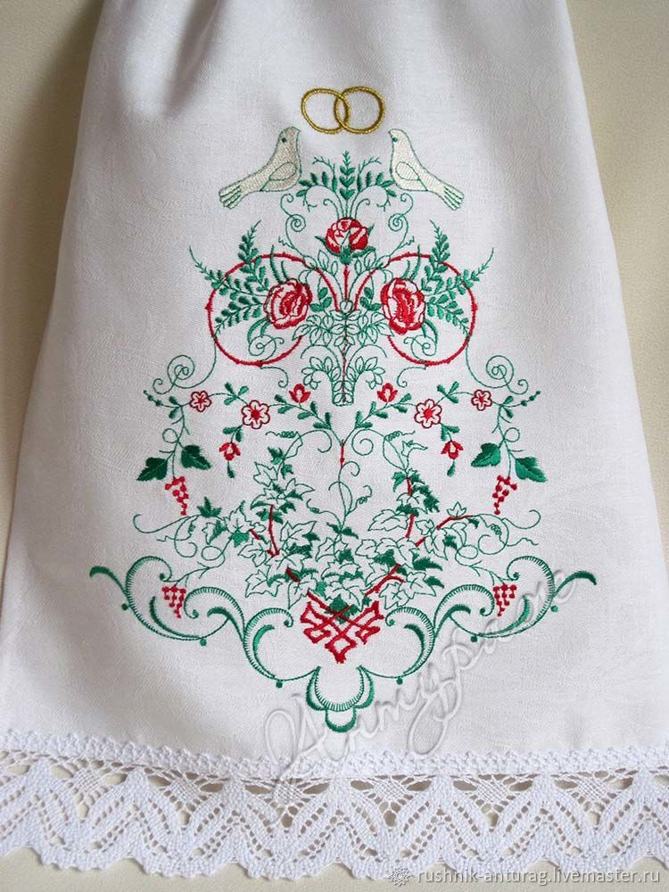 efccb11943970f Свадебный рушник, Рушник на свадьбу, Рушник с вышивкой, Рушник для  венчания, ...