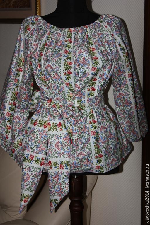 """Блузки ручной работы. Ярмарка Мастеров - ручная работа. Купить Блузка """"Софья"""". Handmade. Белый, блузка с коротким рукавом"""