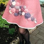 "Одежда ручной работы. Ярмарка Мастеров - ручная работа Валяная юбка ""Пыльная Роза"". Handmade."