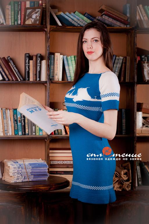 """Платья ручной работы. Ярмарка Мастеров - ручная работа. Купить Платье """"Питерские мосты"""". Handmade. Синий, в офис, достопримечательности"""