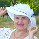 """Шляпы ручной работы. Ярмарка Мастеров - ручная работа. Купить Шляпа """"Воздушная"""" из коллекции """"Горожанка"""". Handmade. Белый, подарок"""