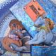 """Игрушки животные, ручной работы. Ярмарка Мастеров - ручная работа. Купить Текстильные лошадки """"Джинсовая любовь"""". Handmade. Голубой"""