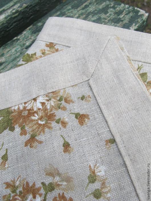 Текстиль, ковры ручной работы. Ярмарка Мастеров - ручная работа. Купить Льняные салфетки. Handmade. Коричневый, для гостиной