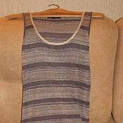 Винтаж handmade. Livemaster - original item Vintage clothing: Shiny knitted dress with lurex France. Handmade.