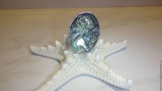 """Кольца ручной работы. Ярмарка Мастеров - ручная работа. Купить Кольцо из перламутра """" Ночная Камея"""". Handmade. Камея, кольцо"""