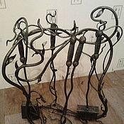 Для дома и интерьера ручной работы. Ярмарка Мастеров - ручная работа Каминный набор (2 варианта). Handmade.