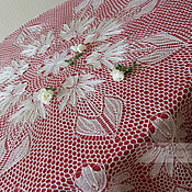 Для дома и интерьера handmade. Livemaster - original item Echinacea tablecloth based on Herberts. Handmade.