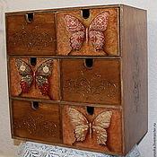Для дома и интерьера handmade. Livemaster - original item Mini dresser Butterfly. Handmade.