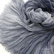 Аксессуары handmade. Livemaster - original item Grey Scarf Batik Stole Women`s