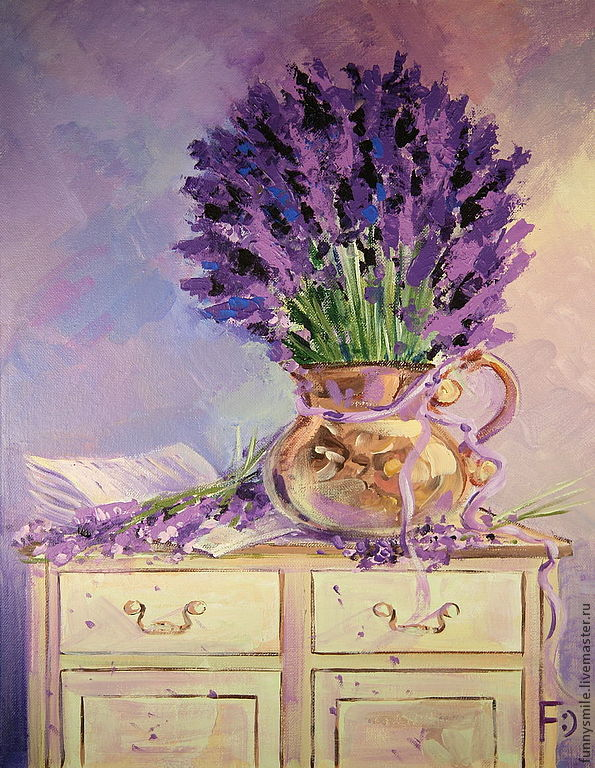 Oil painting on canvas. Lavender poetry, Pictures, Moscow,  Фото №1