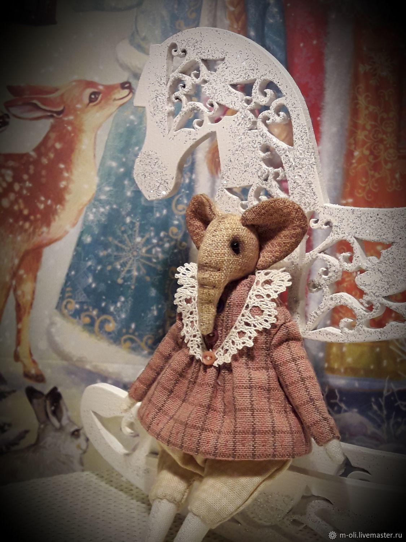 Слоник маленькая карманная игрушка, Мягкие игрушки, Санкт-Петербург,  Фото №1