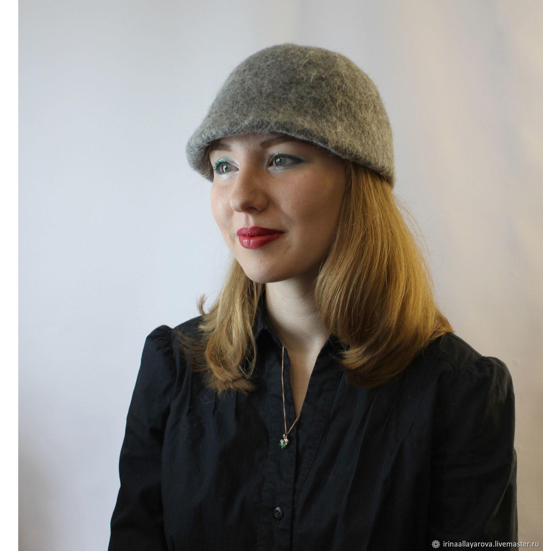 Felted hat cap Cloche, Caps1, Verhneuralsk, Фото №1