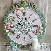 """Часы классические ручной работы. Ярмарка Мастеров - ручная работа Часы настенные """"Королина"""". Handmade."""