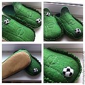 """Обувь ручной работы. Ярмарка Мастеров - ручная работа Тапочки """"Футбольные"""". Handmade."""