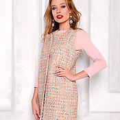 Одежда handmade. Livemaster - original item Vest from fabric Chanel beige. Handmade.