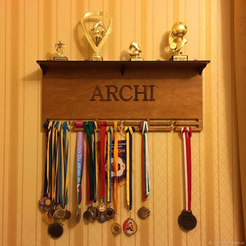 Медальница с полкой для кубков 70х32 см, Кулинарные сувениры, Москва,  Фото №1