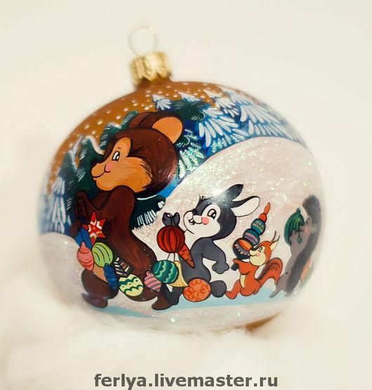 """New Year 2017 handmade. Livemaster - handmade. Buy Christmas ball """"Runaround"""".Christmas gift, christmas present, christmas ball"""