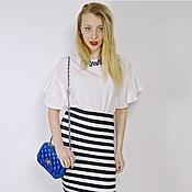 Одежда ручной работы. Ярмарка Мастеров - ручная работа Stripes in Paris skirt by Candy Cottons. Handmade.