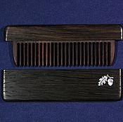 Сувениры и подарки handmade. Livemaster - original item Wooden combs in a case of bog oak, rosewood with INCR. Handmade.