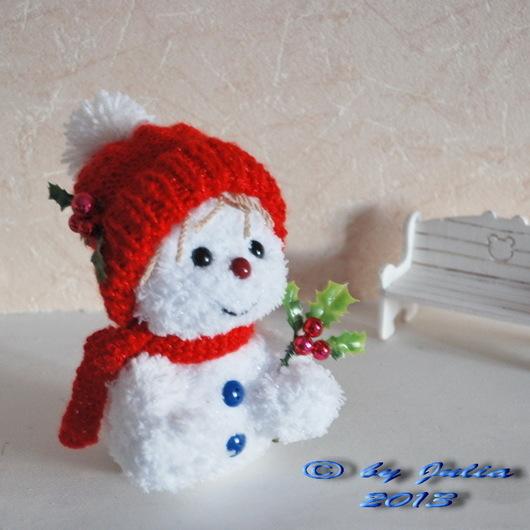 Новый год 2017 ручной работы. Ярмарка Мастеров - ручная работа. Купить Снеговик Снежок. Handmade. Белый, подарок на новый год
