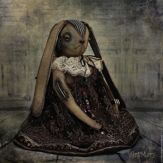 Коллекционные куклы ручной работы. Ярмарка Мастеров - ручная работа. Купить Изольда. Handmade. Черный, антикварная головка, винтажное кружево