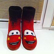 """Обувь ручной работы. Ярмарка Мастеров - ручная работа валенки детские """"Тачки"""". Handmade."""