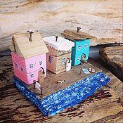 Для дома и интерьера handmade. Livemaster - original item Driftwood cottages Village Veselovka. Handmade.
