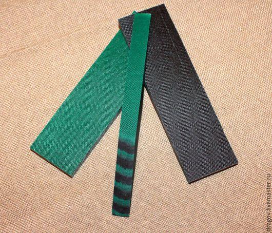 Оружие ручной работы. Ярмарка Мастеров - ручная работа. Купить Micarta #34. Handmade. Микарта, рукоять ножа, зеленый, ткани